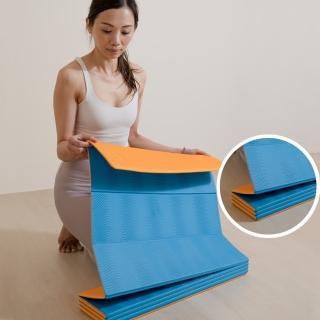 【Ushas】瑜珈墊 6mm 折疊 輕量 TPE環保材質 運動 健身 瑜珈 台灣製(瑜珈墊)