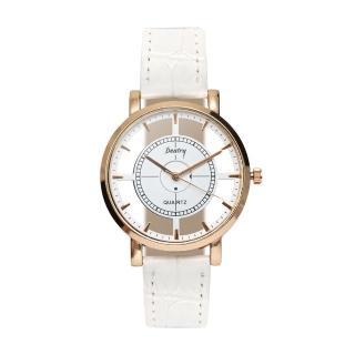 【iDeatry】女神款 玻璃縷空手錶 皮革錶帶(手錶 男錶 女錶 對錶 生日 情人節 交換禮物)