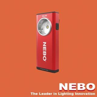 【NEBO】SLIM 超薄型充電可調光LED燈-烈焰紅(手電筒)