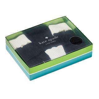 【KATE SPADE】可愛千金小姐風黑白帽子手套禮盒組(KS1001745-001)