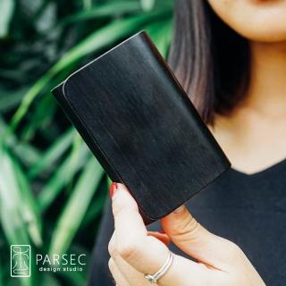 【PARSEC】樹革正黑檀名片夾