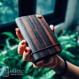 【PARSEC】樹革黑檀旋轉卡套