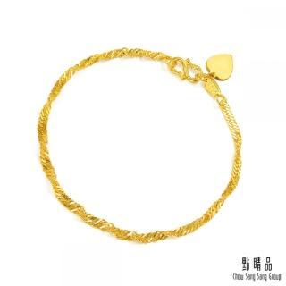 【點睛品】波浪水紋黃金手鍊_計價黃金