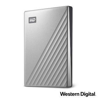 【WD 威騰】My Passport Ultra 1TB 2.5吋USB-C行動硬碟(炫光銀)