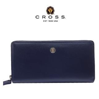 【CROSS】經典NAPPA頂級小牛皮維納斯系列長皮夾(深藍)