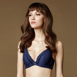 【La Felino 羅絲美】維洛納深V泡棉款B-E罩杯內衣(深藍色)