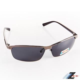 【Z-POLS】駭客任務頂級鋁鎂合金輕量材質 寶麗來Polarized偏光太陽眼鏡(銀黑質感 抗UV400 配戴舒適帥氣)