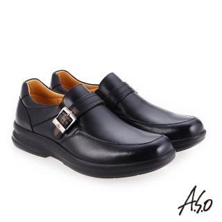 【A.S.O 阿瘦集團】厚切超動力  金屬釦氣墊休閒皮鞋(赭紅)