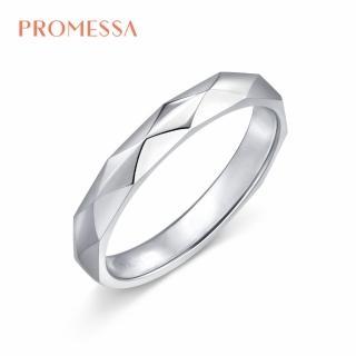 【點睛品】Promessa 幾何簡約 18K金結婚戒指(男戒)