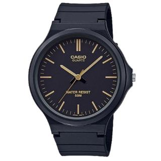 【CASIO 卡西歐】簡約指針錶 樹脂錶帶 黑 防水50米(MW-240-1E2)