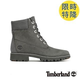 【Timberland】女款中灰色磨砂革經典6吋靴(A1X47033)