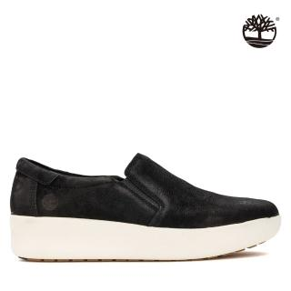 【Timberland】女款黑色磨砂革休閒鞋(A1M97015)