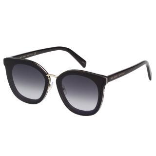 【VEDI VERO】方框 平面鏡片 太陽眼鏡(黑色)