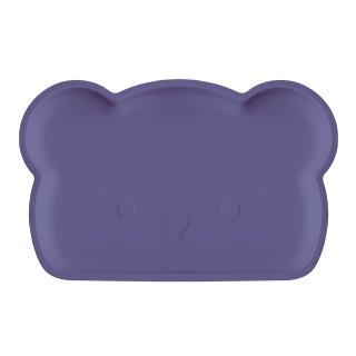 【新加坡bopomofo】小熊矽膠餐盤-深夜藍(矽膠餐具)