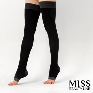 【MISS BEAUTY LINE】韓國原廠遠紅外線/陶瓷纖維美雕襪(日間美雕長襪型)