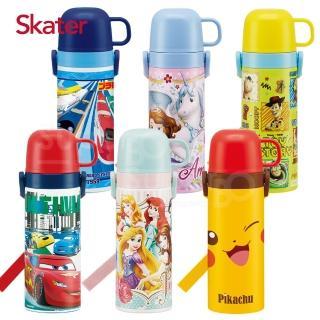 【Skater】不鏽鋼直飲保溫水壺(附杯蓋組)/