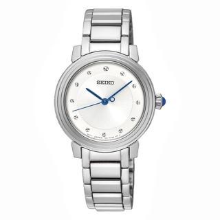 【SEIKO 精工】優雅氣質時尚鑽石腕錶-銀30mm(7N01-0JE0S/SRZ479P1)