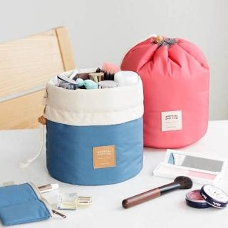 【E.City】多功能圓筒大容量旅行化妝包收納袋(3件組)