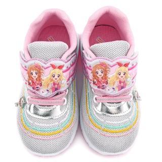 【童鞋城堡】偶像學園 中大童 絢麗鞋底閃燈透氣運動鞋(ID5234-銀)