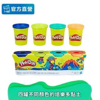 【PLAYDOH 培樂多】補充罐系列(無毒 四色組經典款4 OZ-D款 B5517)