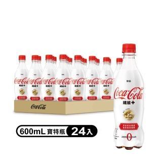 【可口可樂】纖維+寶特瓶600ml-24入(滿足一日所需45%膳食纖維)