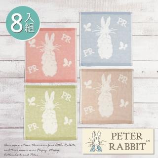【PETER RABBIT 比得兔】紗布無捻手帕巾8件組(高質感精品)