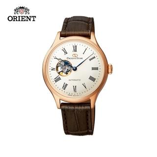 【ORIENT 東方錶】ORIENT STAR 東方之星 CLASSIC系列 縷空機械錶 女生 皮帶款 玫瑰金色 30.5mm(RE-ND0003S)