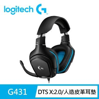 【Logitech G】G431 7.1 聲道環繞音效電競耳機麥克風