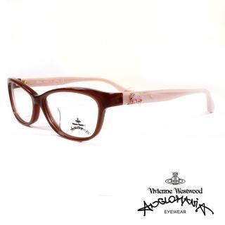 【Vivienne Westwood】英國薇薇安魏斯伍德高雅系列光學眼鏡(咖/裸AN303 04)