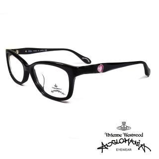 【Vivienne Westwood】英國薇薇安魏斯伍德典雅系列光學眼鏡(黑 AN302 01)