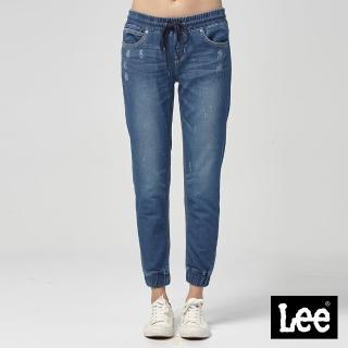 【Lee】Lee 運動休閒束口褲/RG0(藍)