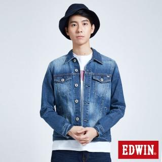 【EDWIN】夢想牛仔外套-男款(拔洗藍)