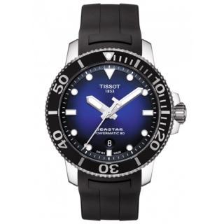 【TISSOT 天梭】Seastar 1000海洋之星300米潛水機械錶-43mm/藍x黑(T1204071704100)