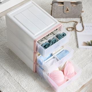【木暉】日式無印風隔板可調抽屜式收納盒(3入)