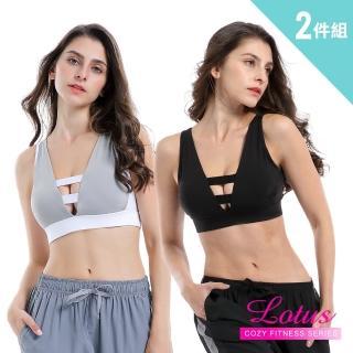 【LOTUS】雙面女伶正反兩穿無鋼圈內衣 超值兩件組(M-XL)