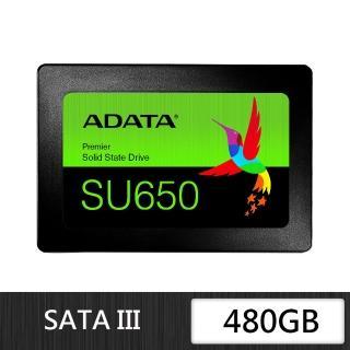 【ADATA 威剛】Ultimate SU650 480G SSD 2.5吋固態硬碟(三年保)