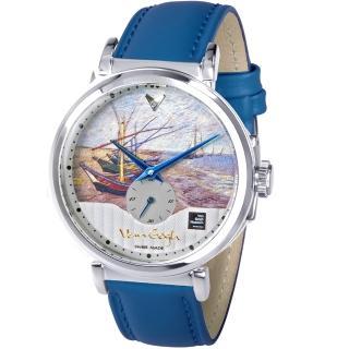 【梵谷Van Gogh Swiss Watch】小秒盤梵谷經典名畫男錶(C-SLMF-25 船)