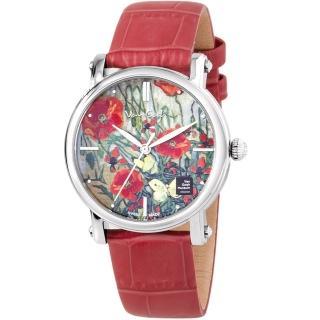 【梵谷Van Gogh Swiss Watch】梵谷經典名畫女錶(Lady 15 紅花)