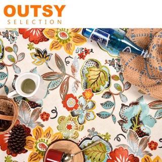 【OUTSY】限量款輕量花布野餐墊(多色可選)