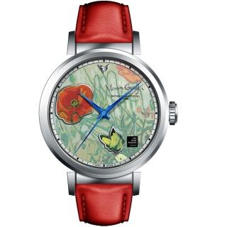 【梵谷Van Gogh Swiss Watch】小秒盤梵谷經典名畫女錶(I-SLLB-02 標誌紅花蝴蝶)