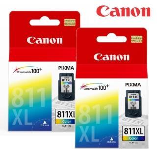 【Canon墨水彩色2入組】CL-811XL 原廠高容量彩色墨水匣
