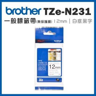 【brother】TZe-N231★一般標籤帶(12mm 白底黑字)