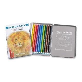 【KREEMO克里蒙 X SIMBALION雄獅】KMPC-936/12 克里蒙油性彩色鉛筆(12色組)
