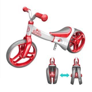 【YVolution 菲樂騎】VELO Twista 平衡滑步車/雙模式扭輪款童車-櫻桃紅(嚕嚕車三輪車 學步車)