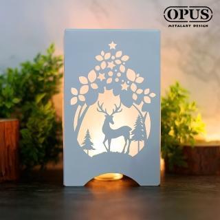 【OPUS 東齊金工】文創USB小夜燈 LED情境燈/金屬燈飾桌燈(NI-fo14W 魔法森林_優雅白)