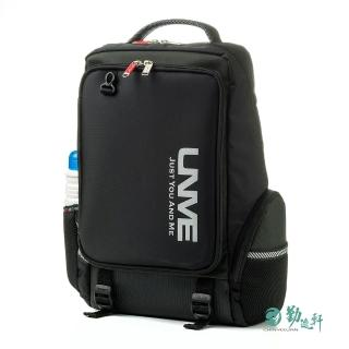 【UnMe】韓風休閒人體工學超輕後背書包(黑色)