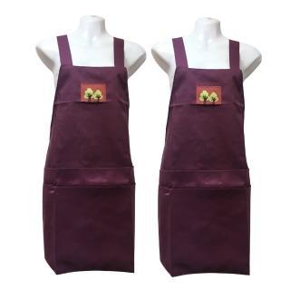 素色四口袋圍裙GH503-紫色(二入組)
