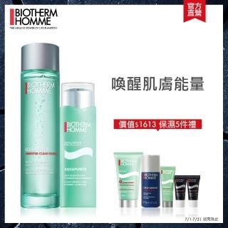 【Biotherm 碧兒泉】活泉激酷型男組(醒膚精華100ml+保濕凝膠75ml)