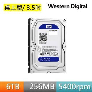 【WD 威騰】藍標 6TB 3.5吋 SATA硬碟(WD60EZAZ)