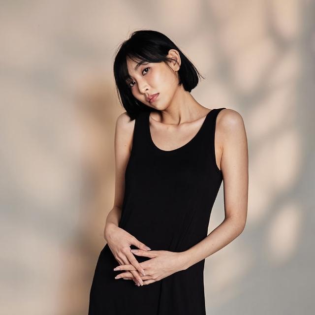 【NEW FORCE】莫代爾BRA涼感彈性睡裙(居家/休閒/舒適/睡衣)